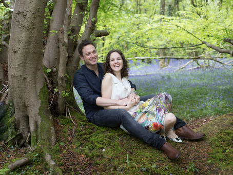 Devon wedding photographer: Bluebell Engagement Shoot