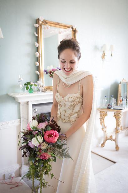 Powderham Castle Bride Getting Ready
