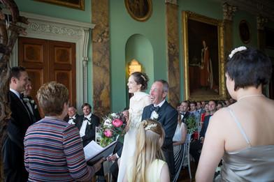 Powderham wedding laughs