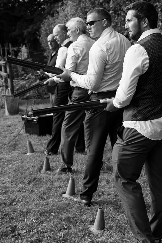 Stowford wedding clay pigeon shoot
