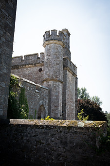 Powderham Castle on a sunny wedding day