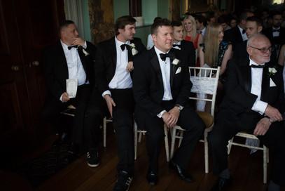 Powderham groomsmen looking very smart