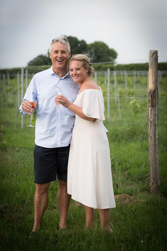 Golden hour Devon wedding photograph