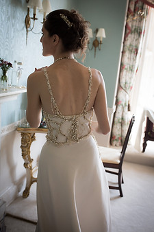 Powderham Castle wedding dress