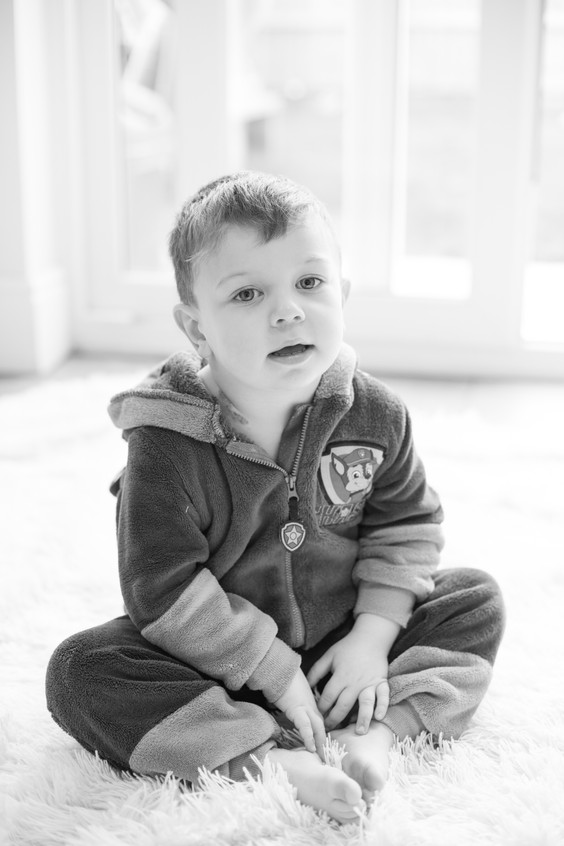 Black and white child photo