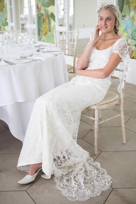 Beautiful bride at Deer Park, Honiton