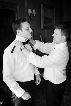 Powerderham Castle groomsman photo
