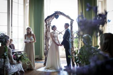 Powderham Castle bridesmaid speaking at the ceremony
