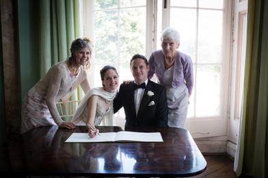 Powderham wedding register signing