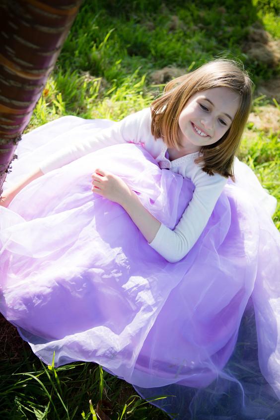 Pretty in purple bridesmaid