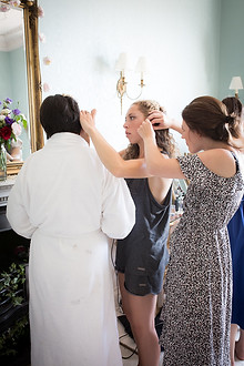 Powderham Castle bridesmaid preps
