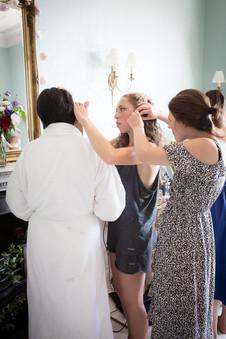 Powderham Castle bridesmaid preps