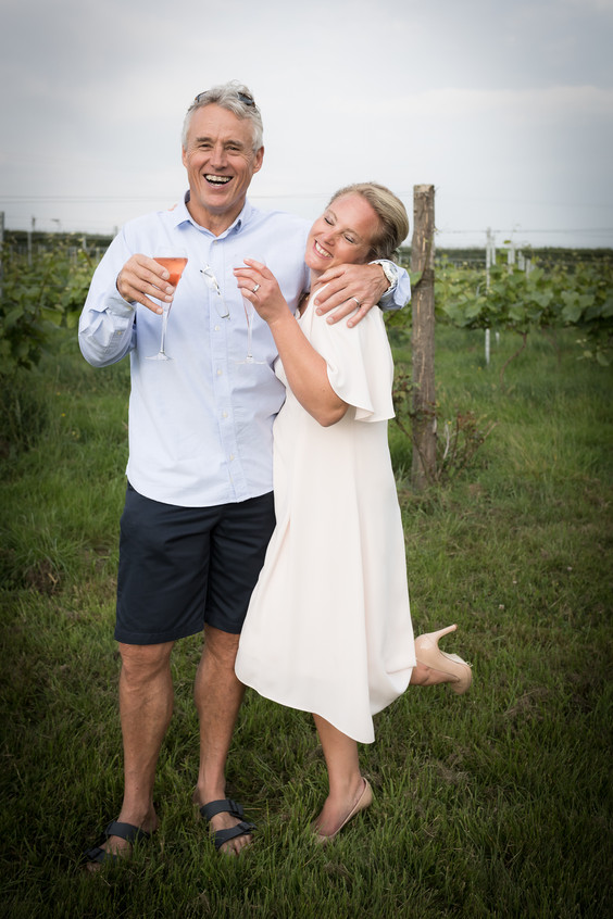 Happy bride and groom Devon