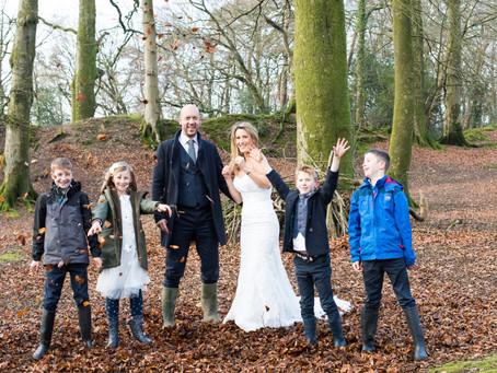 Devon wedding photographer: Woodbury wedding in wellies shoot!