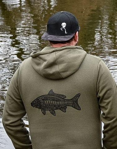 Tribal carp hoodie