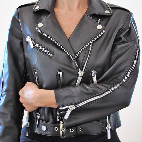 Leather Jacket Nour Hammour