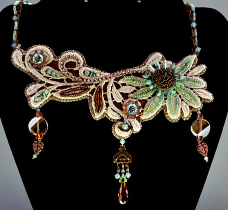 Lace Coneflower Necklace Kit