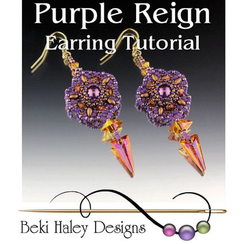 Purple Reign Earring Tutorial