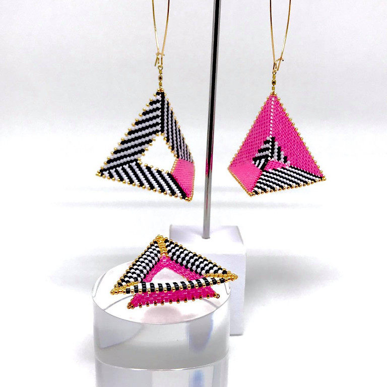 Cliff Swain-Salomon - Collage Earrings & Ring