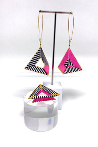 Collage Earrings & Ring Set