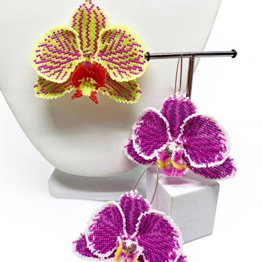 Cliff Swain-Salomon -Phalaenopsis Orchid Pendant/Earrings