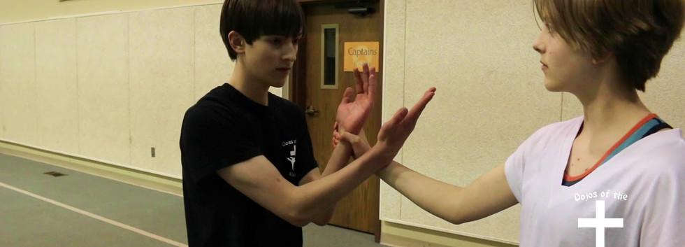 Inward knife hand strike