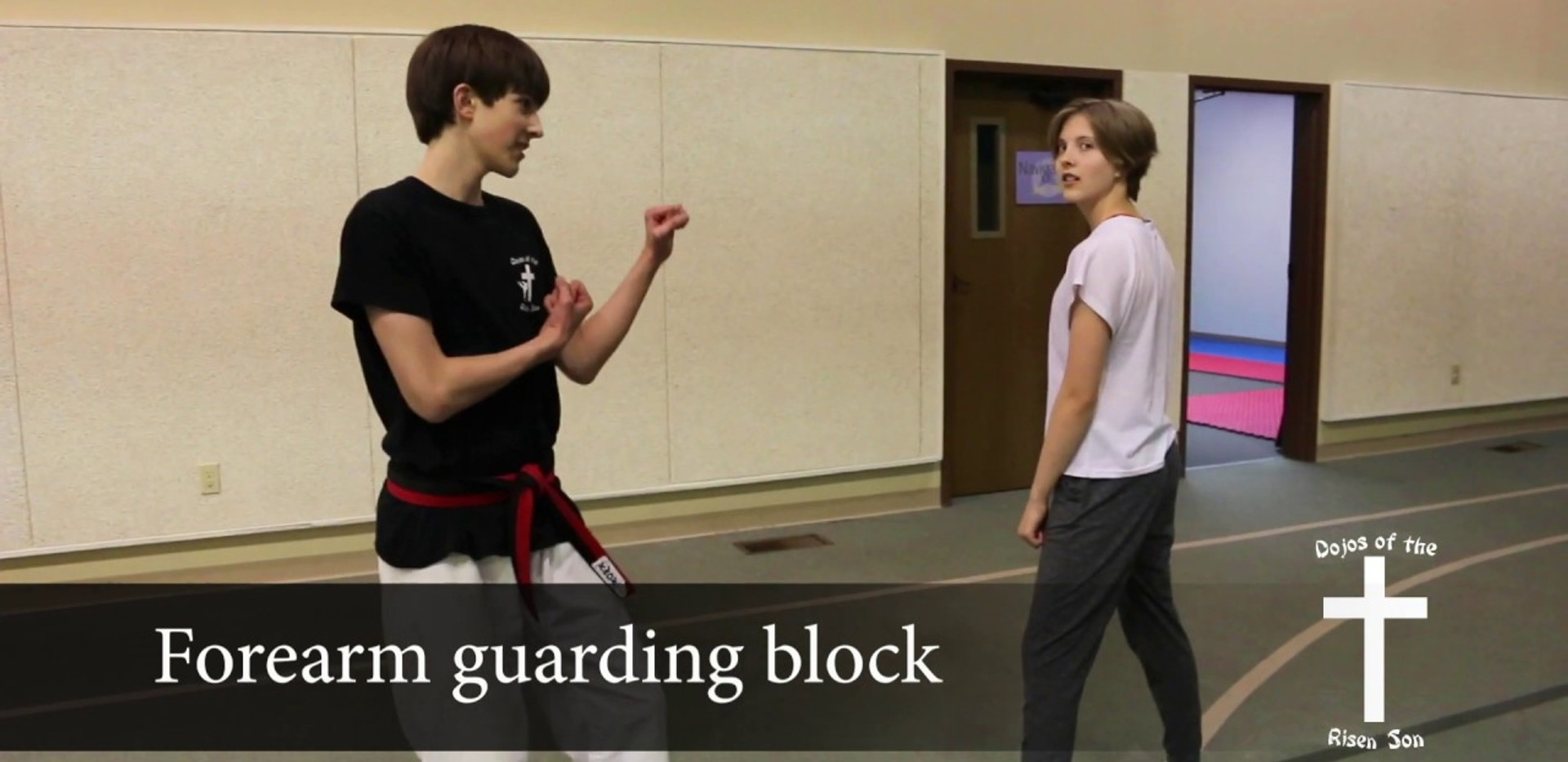 Forearm guarding block