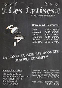 Flyer Restaurant les Cytises