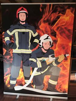 Stand photo pompier