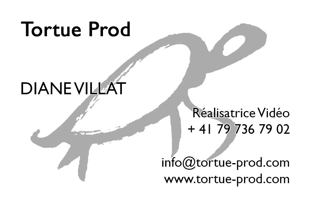 Carte de visites verso Tortue Prod