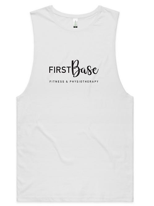 First Base Relaxed Training Singlet - White