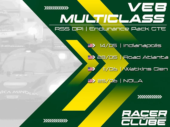 Inscrição VEB Multiclass Series - GT's