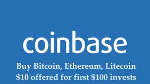 "💰Coinbase | Acheter Bitcoin, Ethereum, Litecoin ""10 dollars offert pour 100 dollars investis""💰"