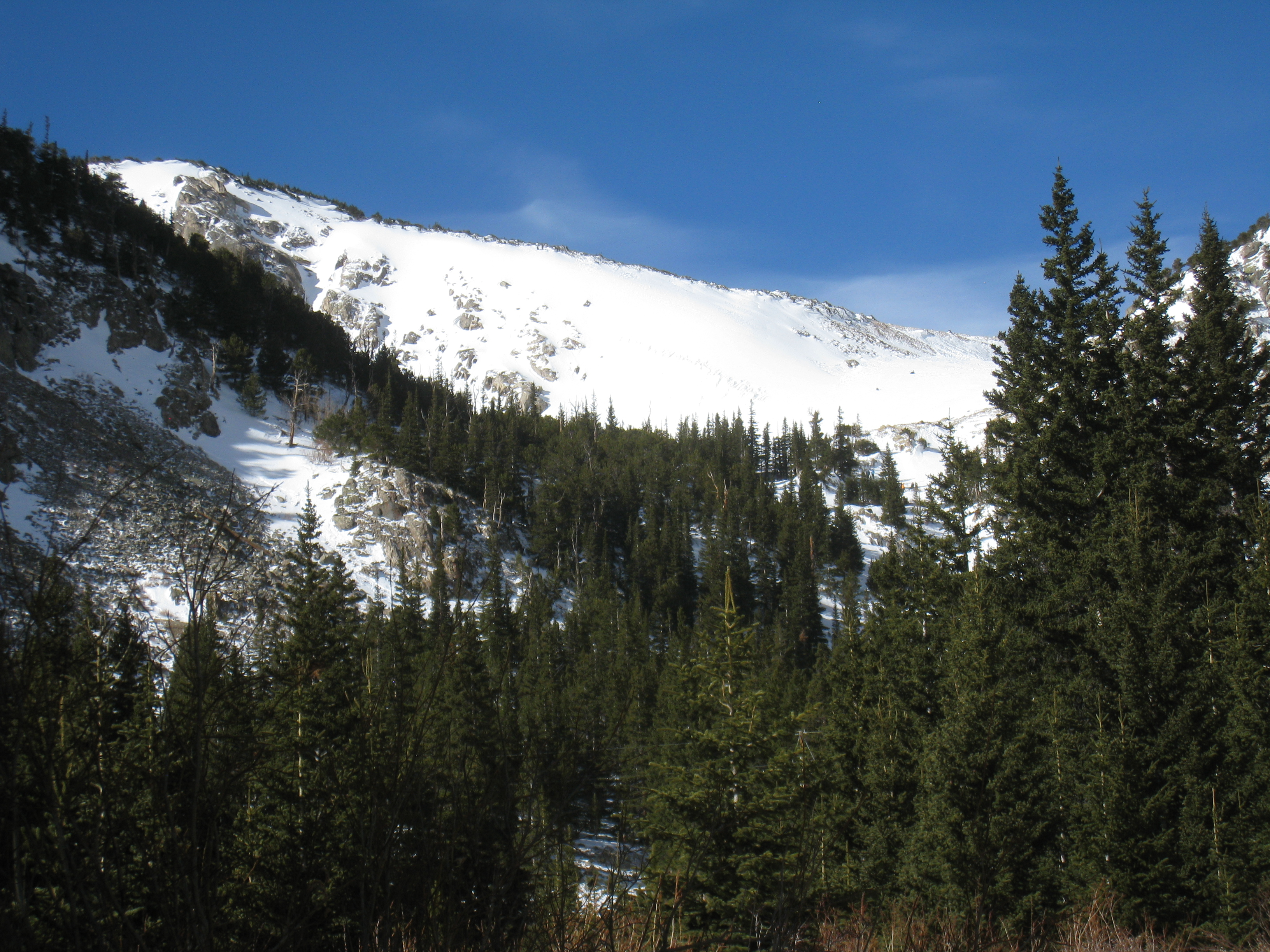 St. Mary's Glacier In Winter