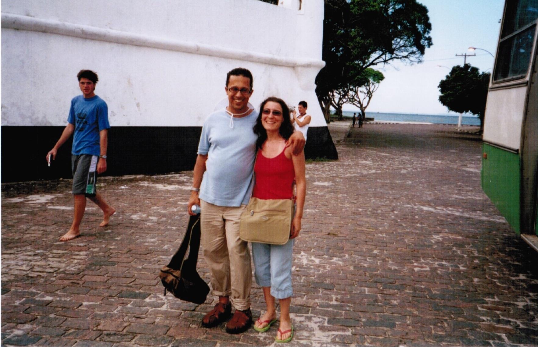 Con mi mujer Cristina en Brasil.