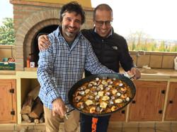 Más paella!! con mi colega Juan Pardo