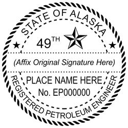 Alaska PE Stamp