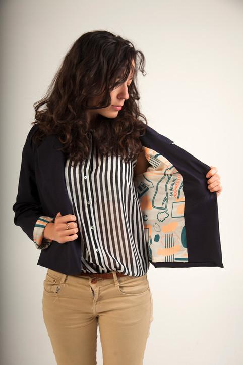 Sérigraphie sur tissu & veste confectionnée en workshop