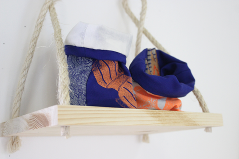Impression aux tampons & broderie