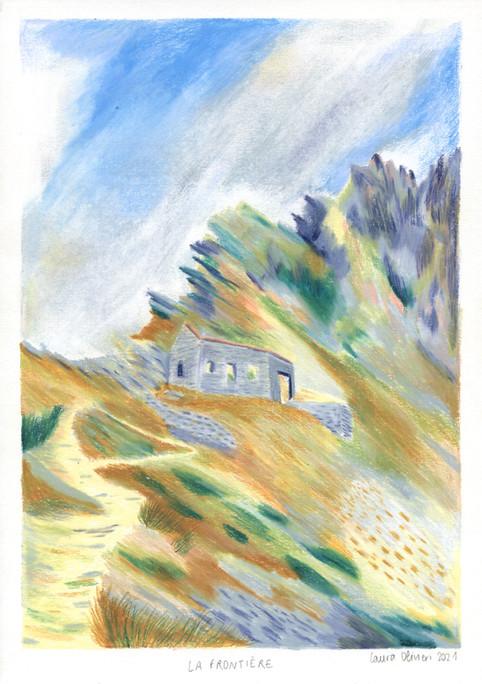 """""""Frontière"""" est une illustration réalisée en partenariat avec la galerie Maison A4"""