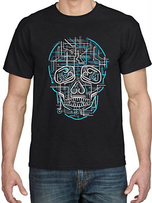 Polera Electric Skull
