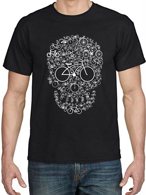 Polera Bicycle Skull