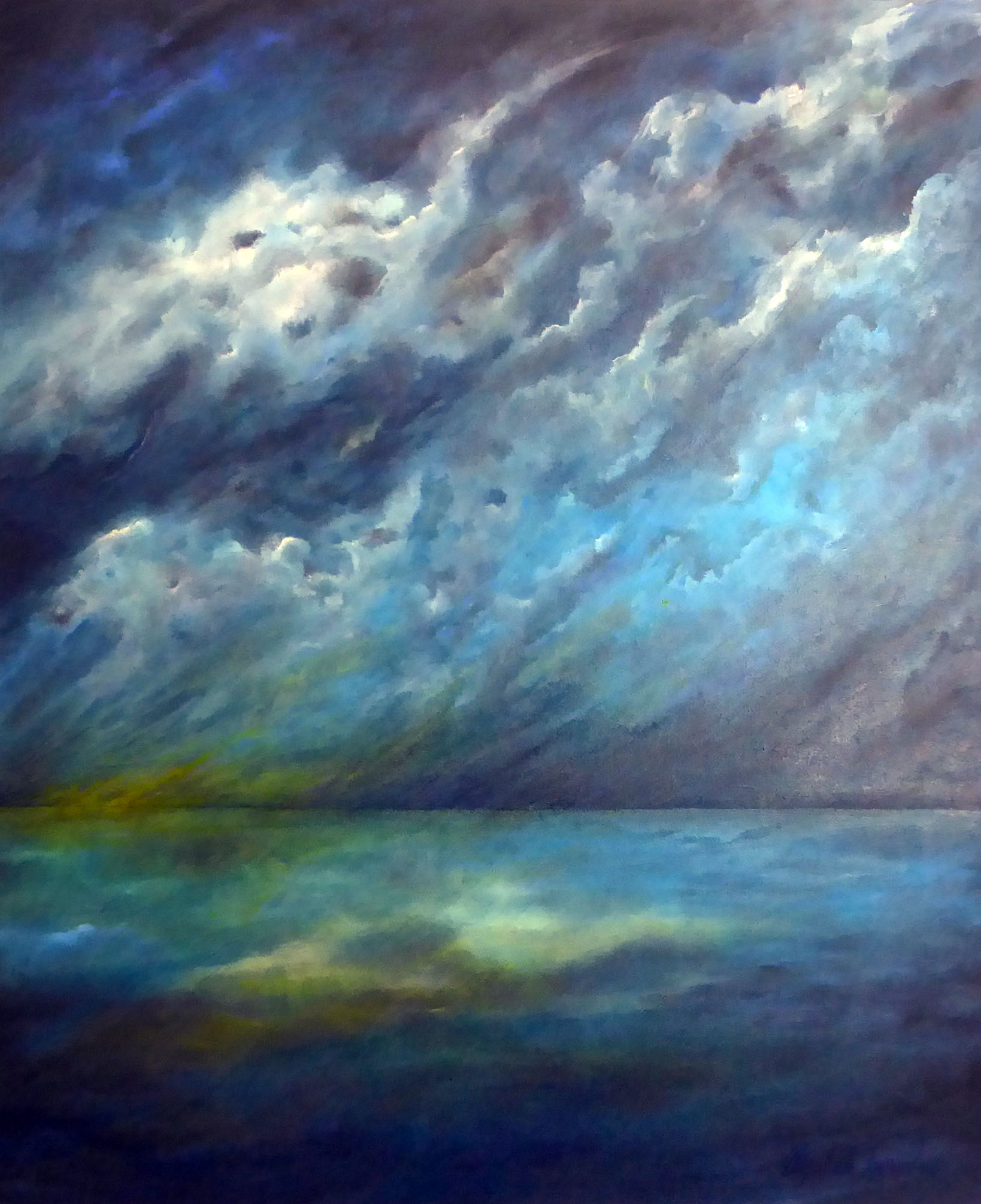 Into the Stormy Night 76cm x 91.5cm