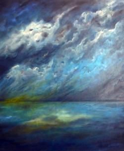 Into the Stormy Night 76cm x 91.5cm