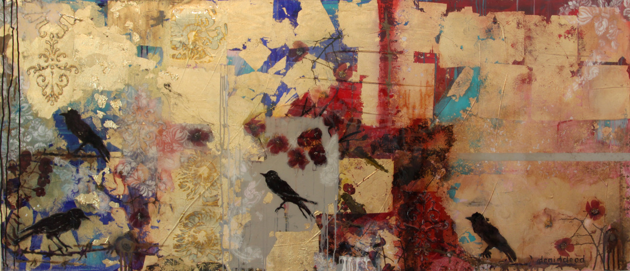 'THE RAVEN GOES POME HUNTING' 200 x90 cm