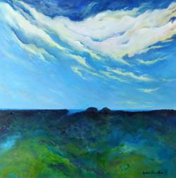 Ocean Lookout - Bold Park - 100x100cm oilon canvas