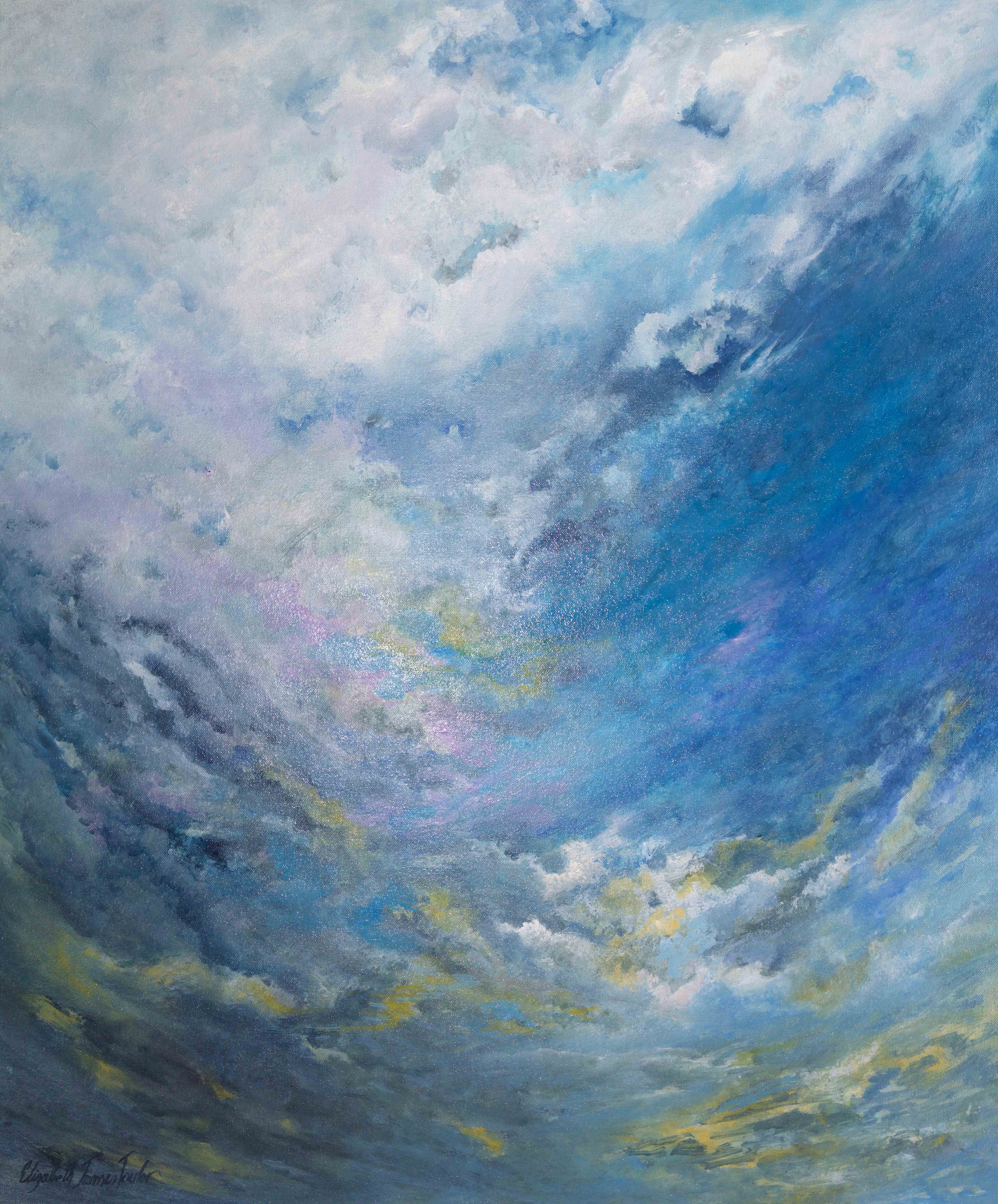 Surfing the Clouds 76 x 91cm oil on canvas