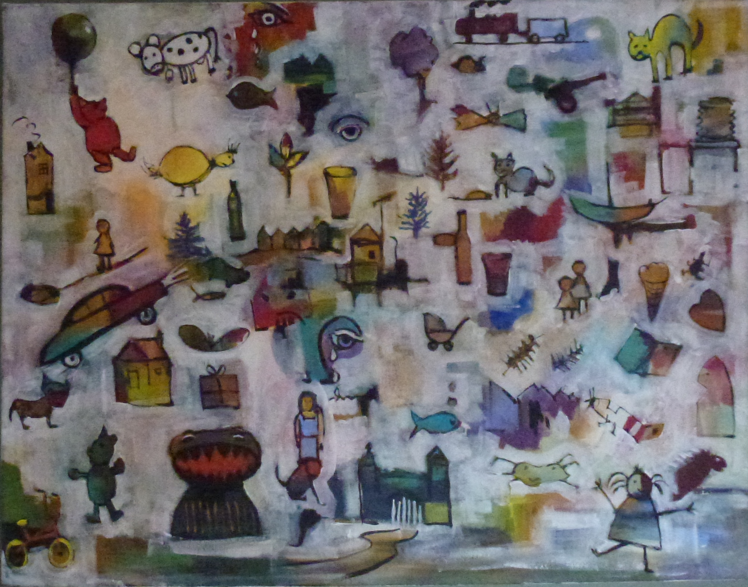 The Artist's Childhood. Acrylic. 910x710. $1800.jpg
