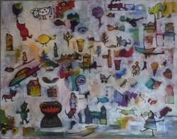 The Artist's Childhood. Acrylic. 910x710. $1800.jpg