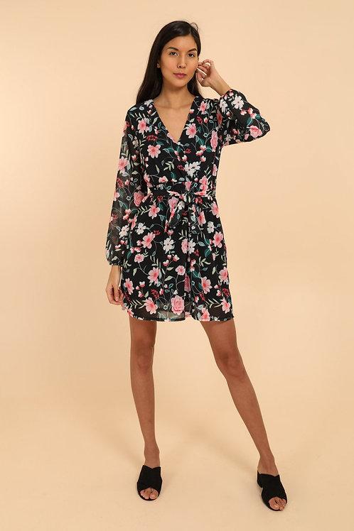 Noir - Kjole med blomsterprint